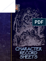 RBL501 Character Record Sheets