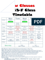 Martial Arts Dundalk Timetable 2010
