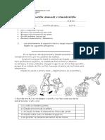 Evaluación Lenguaje Estructura Carta Cuento Diminutivos y Aumentativos