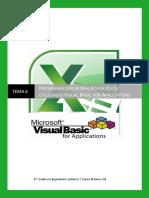 TEMA 6 Programación de Macros de Excel Utilizando VBA
