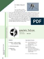 May 2007 Prairie Falcon Northern Flint Hills Audubon Society