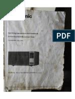 Manual for Panasonic Microwave NN CT654