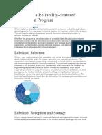 6 Keys for a Reliability-centered Lubrication Program