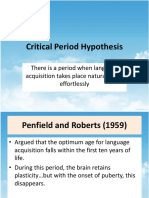 CRITICAL PERIOD HYPOTHESIS - From Rod Ellis_ Understanding Second Language Acquisition