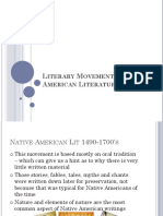 Literary Movements in American Literature