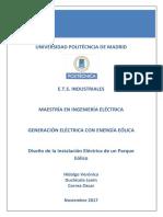 Diseño circuito eléctrico Parque Eólico 2017
