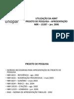 NBR 15287 - Projeto de Pesquisa