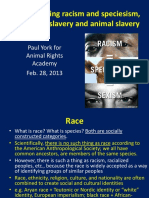 Comparing Racism and Speciesism