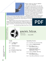 Jan 2009 Prairie Falcon Northern Flint Hills Audubon Society