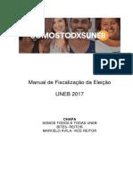 Manual de Fiscalização Da Eleição UNEB 2017