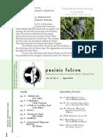 April 2009 Prairie Falcon Northern Flint Hills Audubon Society