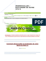 Tutoriel Unlock Le Bootloader de Votre Motorola Moto g