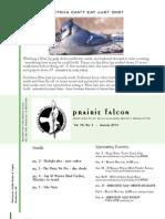 Jan 2010 Prairie Falcon Northern Flint Hills Audubon Society