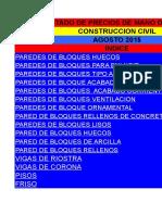 LIstado precios mano de Obra. DEMO AGOSTO-2015 PAREDES, FRISOS,LAJAS, CORONA, RIOSTRA.xls