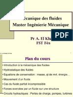Cours Mécanique des Fluides (Année 2014)
