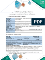 Guía de Actividades y Rúbrica Cualitativa de Evaluación - Fase 1 - Reflexión