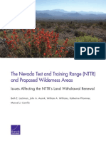 The Nevada Test and Training Range (NTTR) and Proposed Wilderness Areas