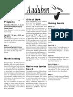 March 2000  Wichita Audubon Newsletter