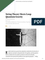 String Theory Meets Loop Quantum Gravity _ Quanta Magazine