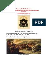 El Arca de La Alianza y su Significado - V.·. H.·. Oscar Lara Gallegos 4° - V.·. H.·. Wilder Flores Díaz, 9°.