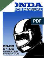 VLX VT600 88-89 91-96 Service Manual 61MR107