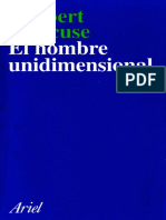El Hombre Unidimensional - Herbert Marcuse