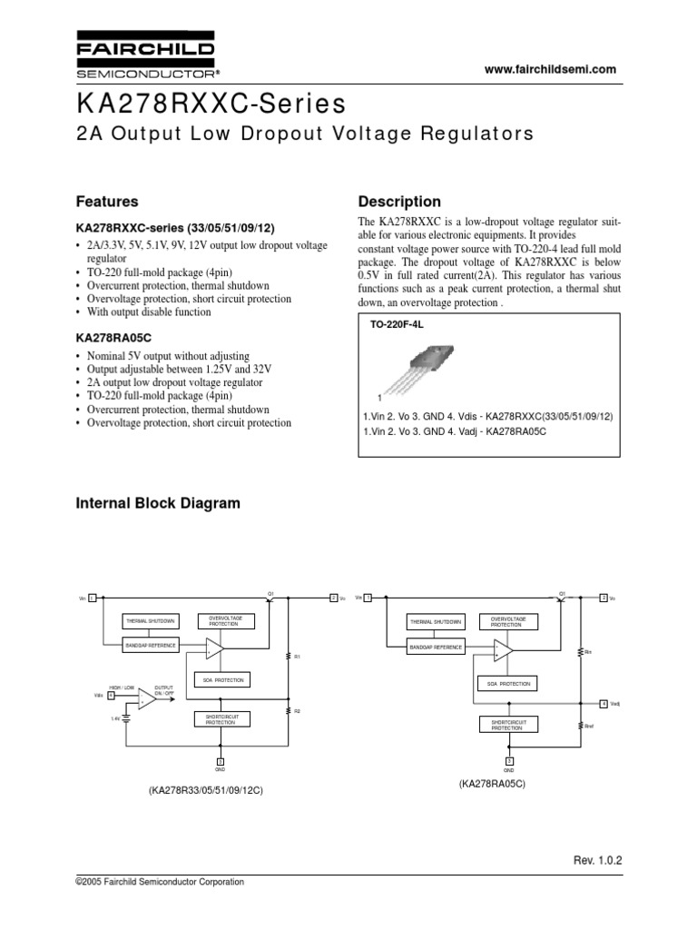 Ka278rxxc Seriespdf Quantity Electrical Components Power Opamp Voltage Regulator With Overvoltage Protection Circuit
