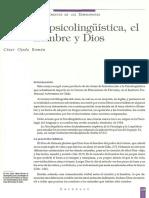 psicolinguistica, el hombre y dios