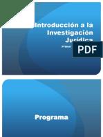 1. Introducción a La Investigación Jurídica
