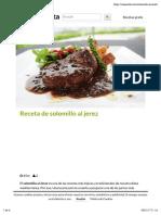 Receta de Solomillo Al Jerez - Unareceta.com