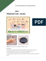 Construção de Instrumentos Com Material Reciclável