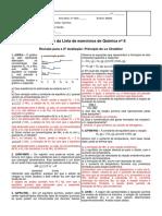 Resolucao Da Lista de Exercicios 8 - Revisao Para a 2 Avaliacao - Principio de Le Chatelier - 2 Bimestre 2013 - 3 Series