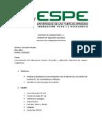 Informe de Laboratorio 1 Maquinas Electricas