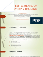 The Best 5 Means of Tally Erp 9 Training