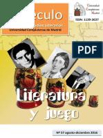 Literatura y Juego Especulo 57 UCM 2016