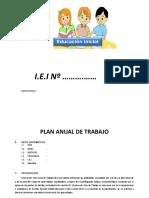 Plan Anual de Trabajo Ed Inicial 2016 Modelo