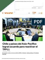 Chile y países del Asia-Pacífico logran acuerdo para reactivar el TPP11 - PULSO
