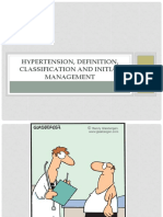 Hypertension, Definition, Classification and Initial Management