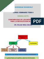 Confiabilidad Seminario Tesis II SEMANA SIETE