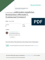 Plantas Medicinales Espanolas Rosmarinus Officinal