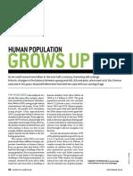 human population grows up