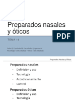 Tema 16.- Preparados Nasales y Oticos