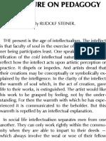 A Lecture on Pedagogy - Rudolf Steiner