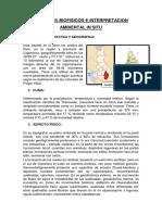 Aspecto Biofisico e Interpretacion Ambiental in Situ