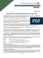 PRESSRELEASERAYSPARTNERWITHMOFFITTCANCERCENTERTOENDPROSTATECANCER080310_2_