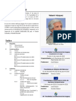 Datos de Interés Sobre Tabaré Vázquez