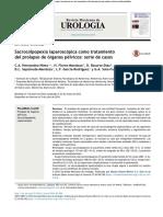 Sacrocolpopexia laparoscópica como tratamiento del prolapso de órganos pélvicos