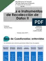 Tecnicas e Instrumentos de Recoleccion de Datos II