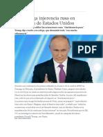 Putin Niega Injerencia de Rusia en Elecciones de Eeuu