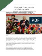 El Viaje de Trump y Asia